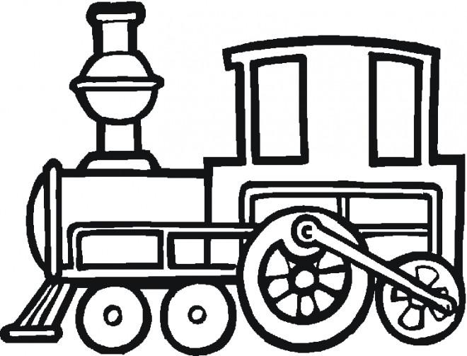 Coloriage et dessins gratuits Locomotive vectoriel à imprimer