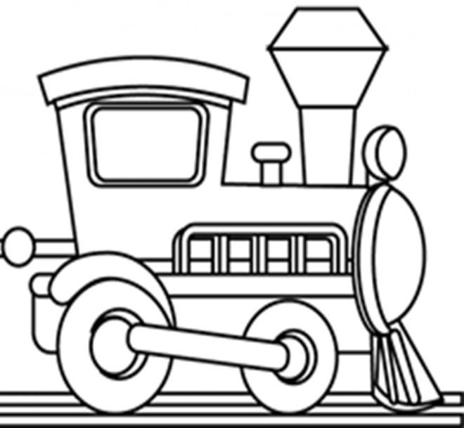 Coloriage et dessins gratuits Petite Locomotive simple à imprimer