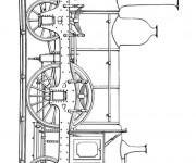 Coloriage et dessins gratuit Train à vapeur à imprimer