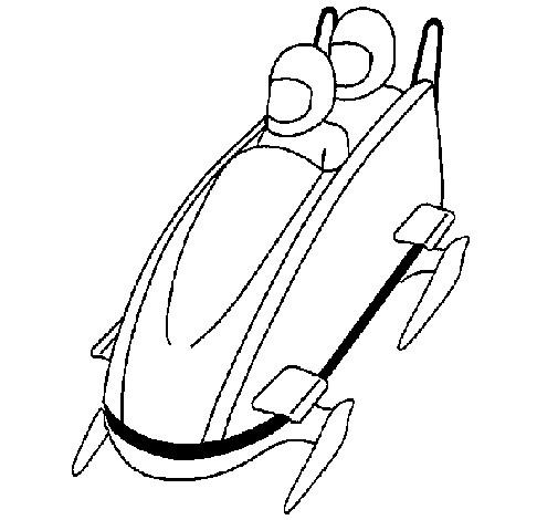 Coloriage et dessins gratuits Luge Bobsleigh Jeux Olympiques à imprimer