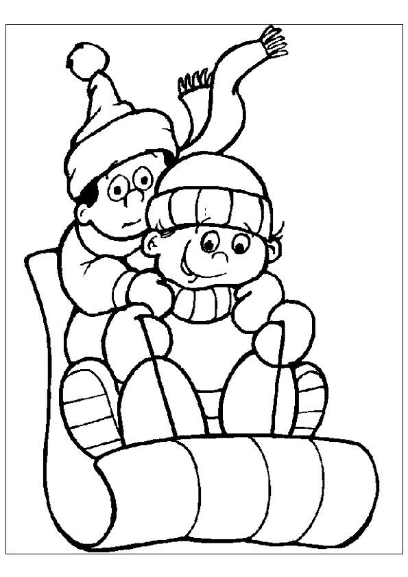 Coloriage et dessins gratuits Luge en ligne à imprimer