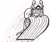 Coloriage et dessins gratuit Luge humoristique à imprimer