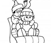 Coloriage et dessins gratuit Luge neige à imprimer