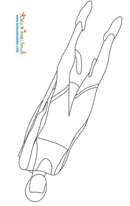 Coloriage et dessins gratuits Luge sport olympique couleur à imprimer