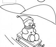 Coloriage et dessins gratuit Ous sur Luge à colorier à imprimer