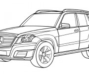 Coloriage Automobile Mercedes 4 × 4