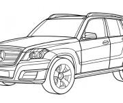 Coloriage et dessins gratuit Automobile Mercedes 4 × 4 à imprimer