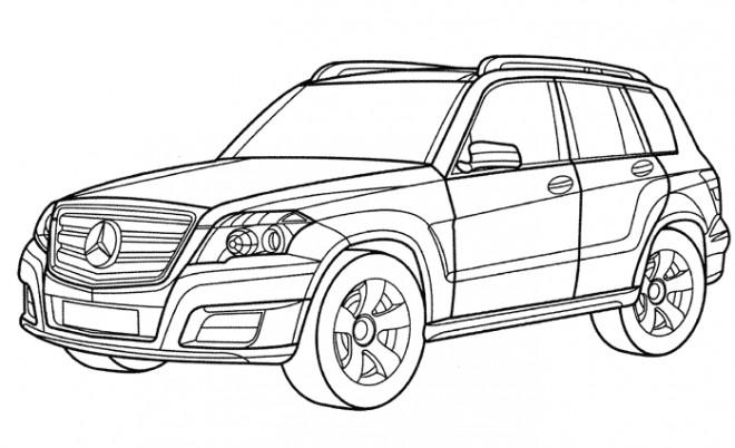 Coloriage et dessins gratuits Automobile Mercedes 4 × 4 à imprimer