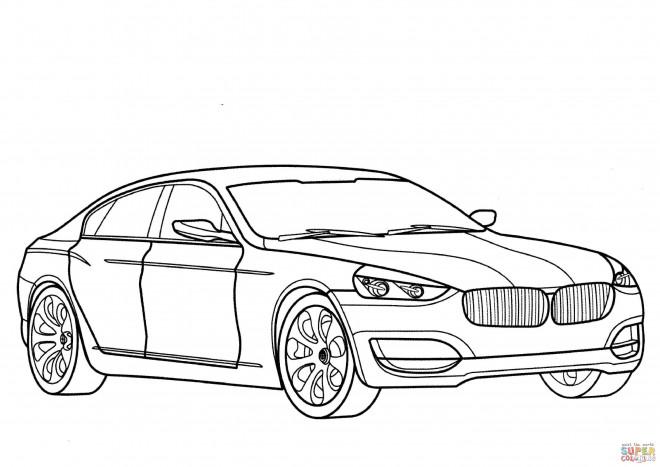 Coloriage et dessins gratuits BMW classique à imprimer