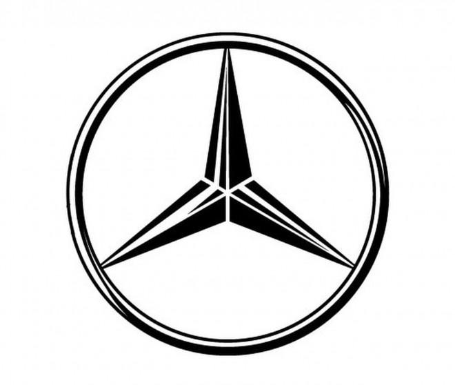 Coloriage et dessins gratuits Logo de la maison des voitures Mercedes Benz à imprimer