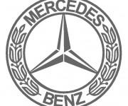Coloriage et dessins gratuit Logo Mercedes à imprimer
