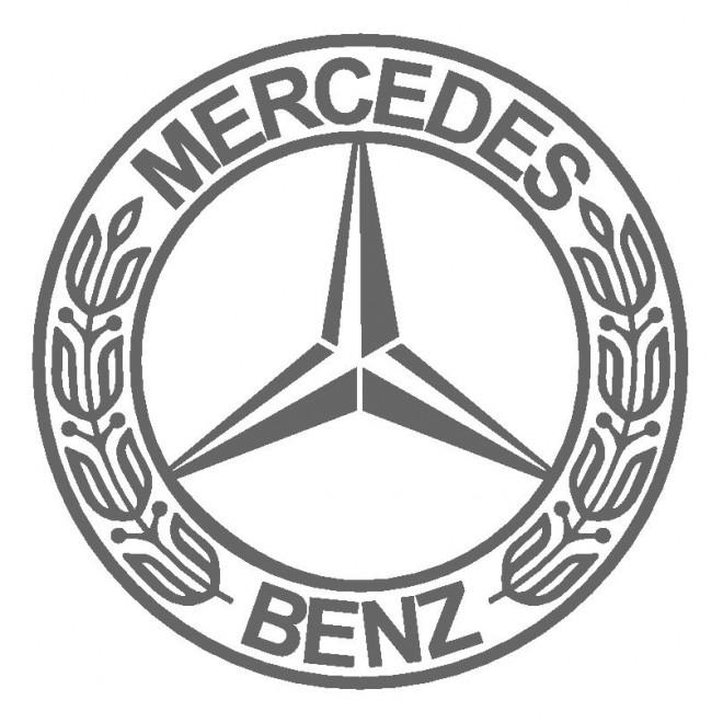 Coloriage et dessins gratuits Logo Mercedes à imprimer
