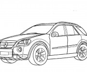 Coloriage Mercedes 4 × 4