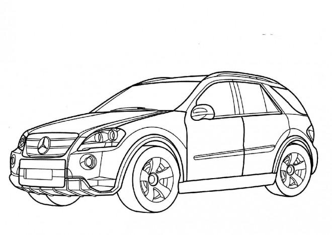 Coloriage et dessins gratuits Mercedes 4 × 4 à imprimer