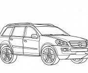 Coloriage Mercedes 4x4 à colorier