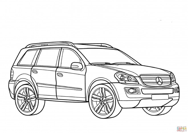 Coloriage et dessins gratuits Mercedes 4x4 à colorier à imprimer