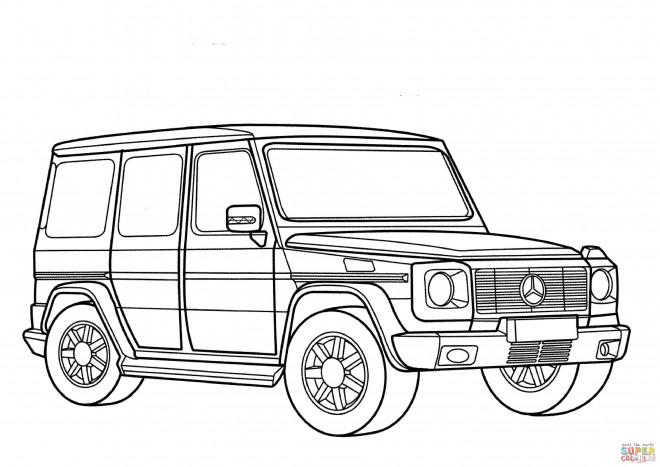 coloriage mercedes 4x4 classe g dessin gratuit imprimer. Black Bedroom Furniture Sets. Home Design Ideas