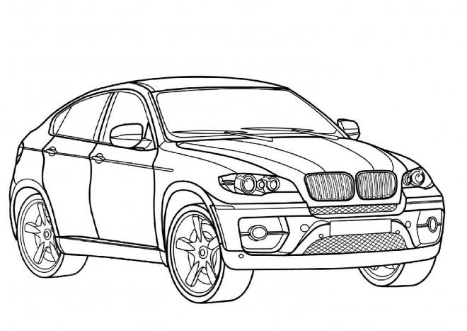 Coloriage Mercedes 4x4 GLC Coupé dessin gratuit à imprimer