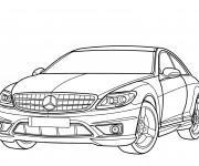 Coloriage Mercedes amg couleur