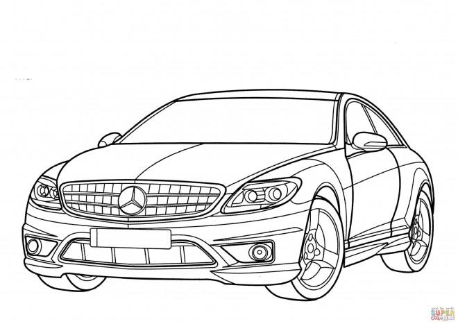 Coloriage et dessins gratuits Mercedes amg couleur à imprimer