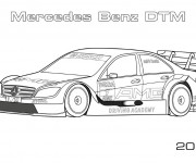 Coloriage Mercedes Benz DTM