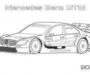Coloriage et dessins gratuit Mercedes Benz DTM à imprimer