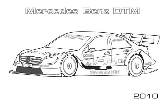 Coloriage et dessins gratuits Mercedes Benz DTM à imprimer