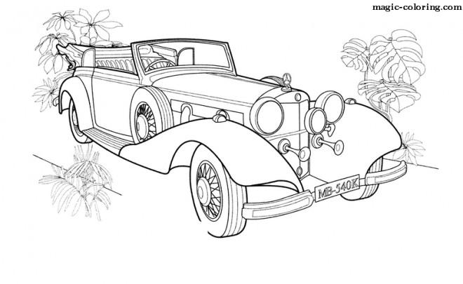 Coloriage Mercedes Benz Limousine dessin gratuit à imprimer