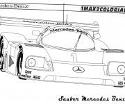 Coloriage et dessins gratuit Mercedes C9 de course à imprimer