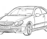 Coloriage Mercedes Classe A
