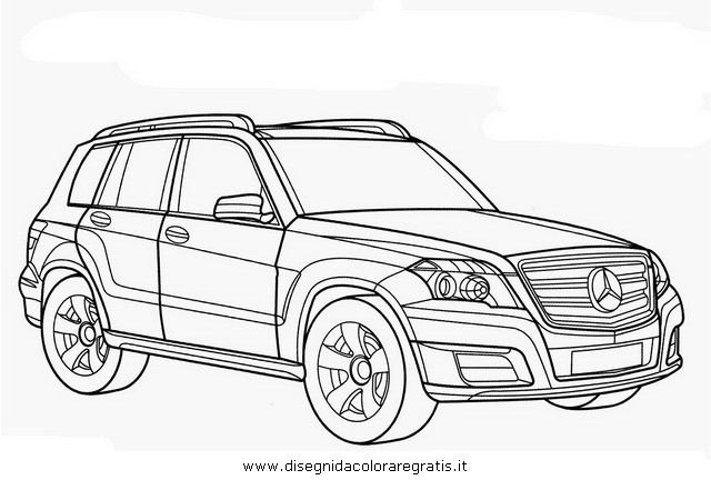 Coloriage et dessins gratuits Mercedes classe MI à imprimer