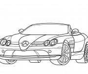 Coloriage et dessins gratuit Mercedes décapotable à imprimer