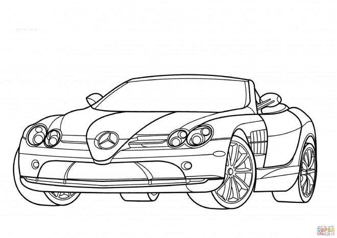 Coloriage et dessins gratuits Mercedes décapotable à imprimer