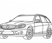 Coloriage Mercedes en couleur
