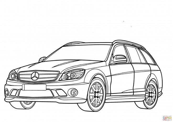 Coloriage et dessins gratuits Mercedes en couleur à imprimer
