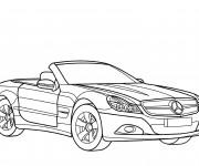 Coloriage et dessins gratuit Mercedes SLS à imprimer