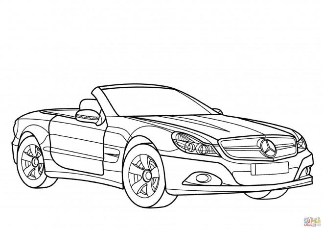 Coloriage et dessins gratuits Mercedes SLS à imprimer