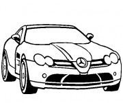Coloriage Mercedes SLS amg