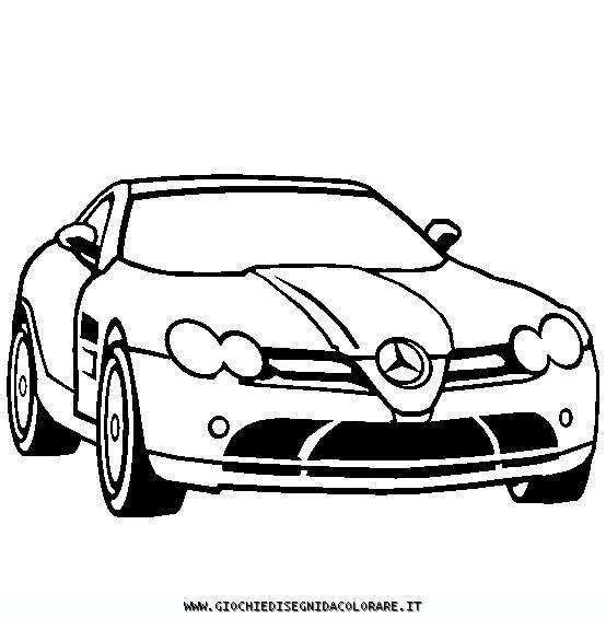 Coloriage et dessins gratuits Mercedes SLS amg à imprimer