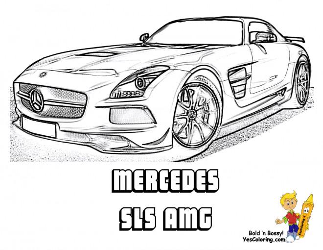 Coloriage mercedes sls amg r aliste dessin gratuit imprimer - Dessin voiture mercedes ...