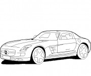 Coloriage Mercedes sport