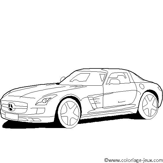 Coloriage et dessins gratuits Mercedes sport à imprimer