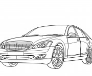 Coloriage Mercedes stylisé