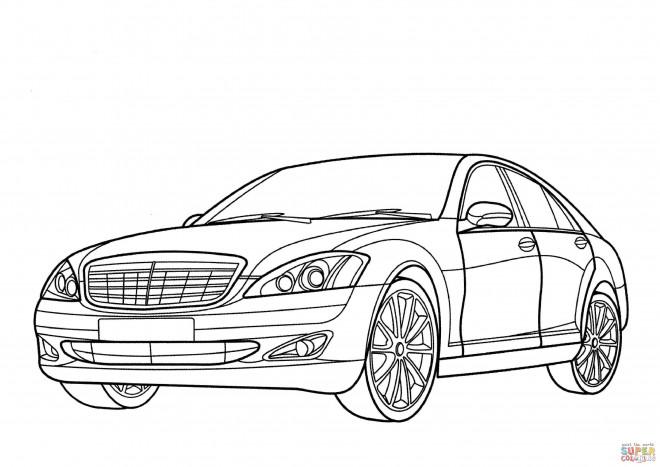 Coloriage et dessins gratuits Mercedes stylisé à imprimer