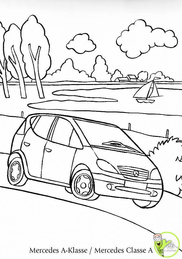 Coloriage et dessins gratuits Mercedes Viano près de la rivière à imprimer