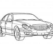Coloriage et dessins gratuit Voiture Mercedes à imprimer
