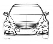 Coloriage et dessins gratuit Voiture Mercedes Benz à découper à imprimer