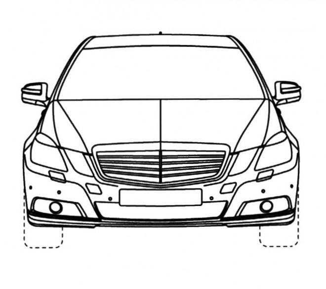 Coloriage Voiture Mercedes Benz à Découper