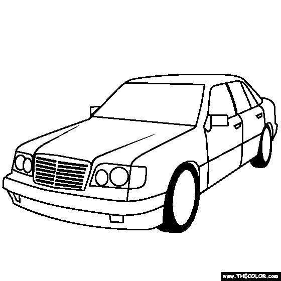 Coloriage et dessins gratuits Voiture Mercedes simple à imprimer