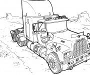 Coloriage et dessins gratuit Camion américain à imprimer